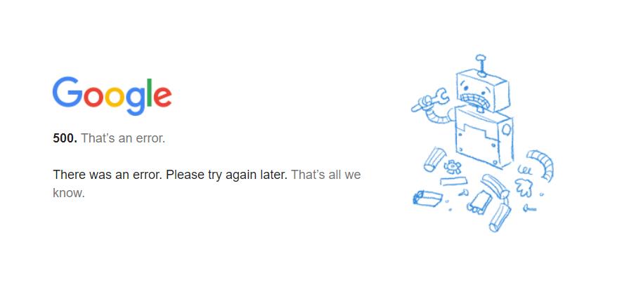 Google 掛了